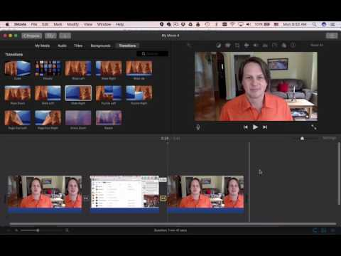 How to add transitions in iMovie