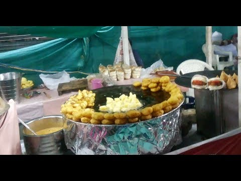 Food zone at Ahmedabad Vacation 2017 - fruit roller - potato roll stick - part 1