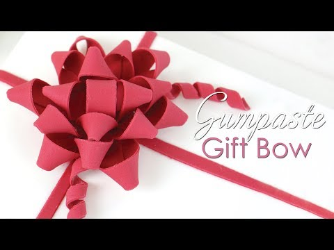Gumpaste / Fondant Present Gift Bow Tutorial for Cakes