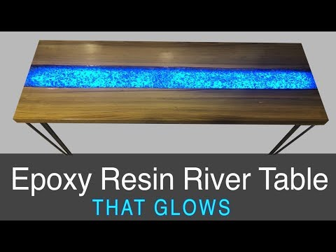 Glowing Epoxy Resin River Table - Woodworking How-To