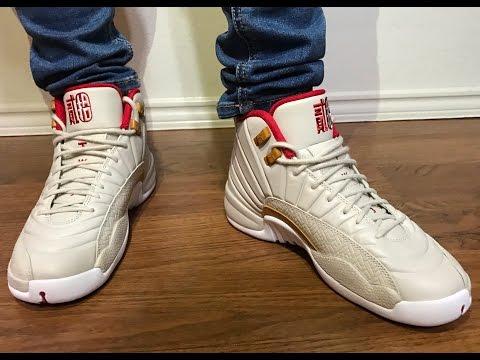 Wife's Jordan Retro 12 CNY unbox on feet review