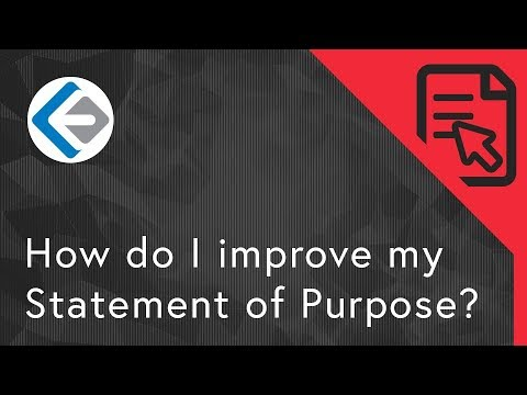 How do I Improve my Statement of Purpose?