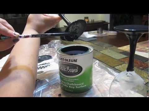 DIY Projects- Chalkboard paint -wine glasses