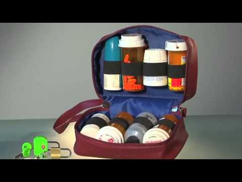 SafeTote RX Portable Medication Storage Container For Prescription Medications