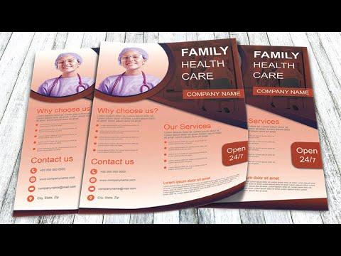 Photoshop tutorial - Healthcare flyer template