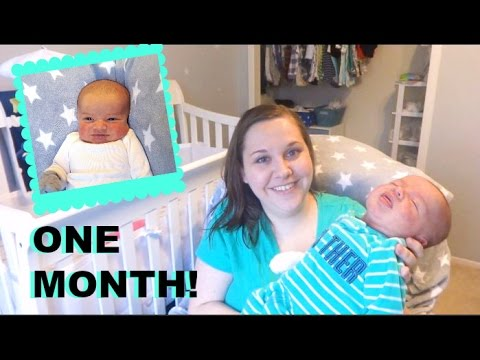 Rowan's 1 Month Update! {with sibling and monthly photos!}