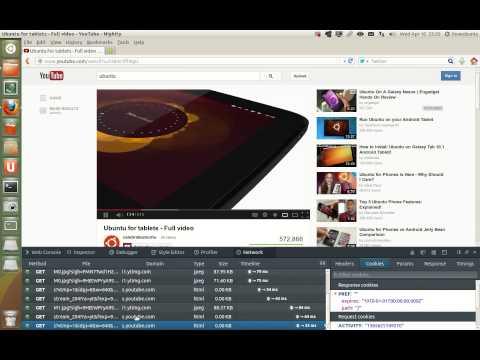 Firefox Nightly in Ubuntu with network monitor