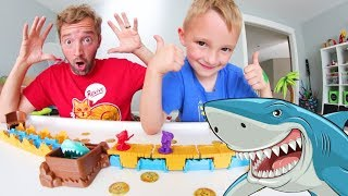 Father & Son PLAY SHARK MANIA! / Don't Get Eaten!
