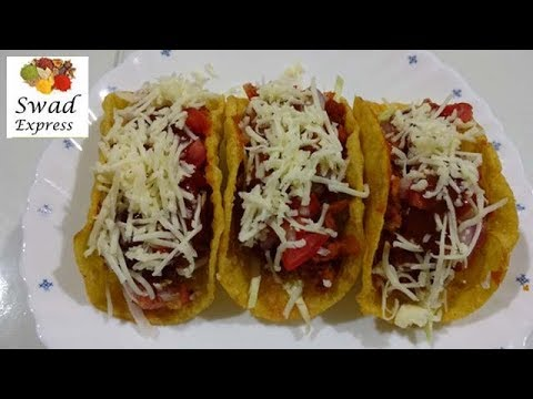 Mexican Tacos recipe - Veg Mexican Tacos recipe (tea time snack) - Indian style Veg Tacos