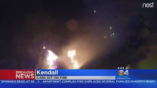 Two Cars Torched In Kendall