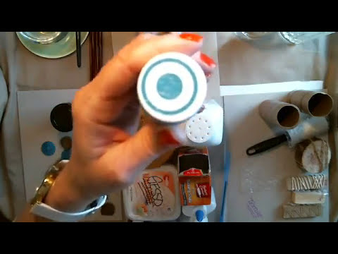 How to make Gesso,Texture Paste, Mod Podge, Patina, and some backgrounds.
