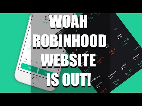 Robinhood Web Platform Now Available, Lets Check It Out!