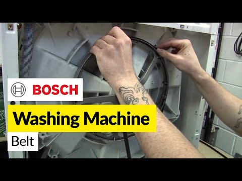 How to replace a washing machine belt on a Bosch washer