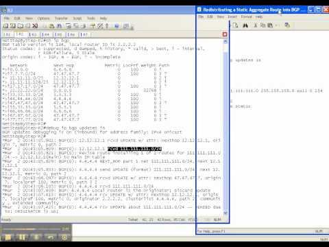 BGP Video Cheat Sheet: Redistributing A Static Route