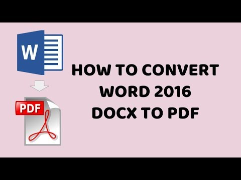 How To Convert Word 2016 docx to PDF   Word 2016 docx to PDF   Tutorials In Hindi