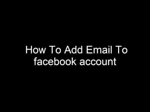 Add or remove email address from my facebook account