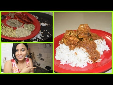 Today's lunch routine | How to make Chicken Kolhapuri | Indian Lunch Routine