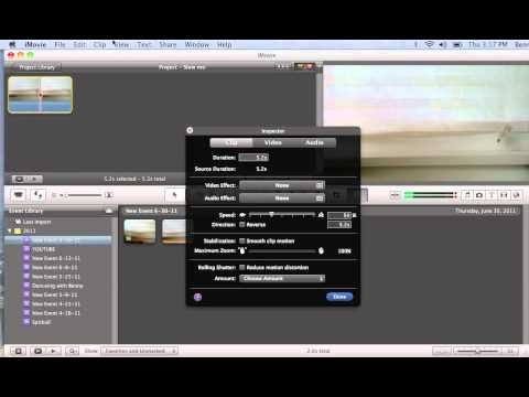Slow motion iMovie 11