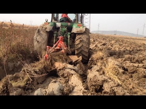 Extrem Plowing with John Deere 7800 Bad Tillage Difficult Ground