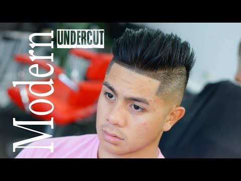 Modern Undercut Slick Back Tutorial - Men's Hairstyle for Thick hair.