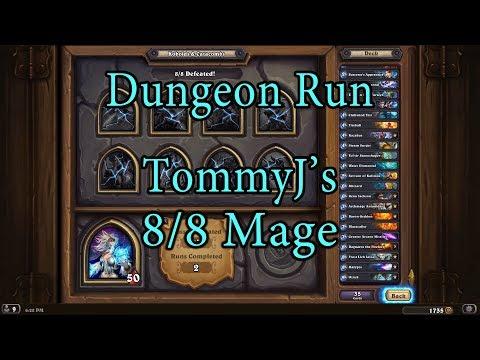 Hearthstone: Kobolds and Catacombs Mage 8/8 Dungeon Run