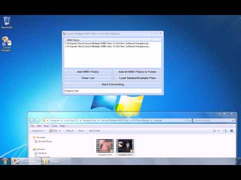 How To Use Convert Multiple WMV Files To AVI Files Software