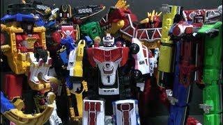 Power Rangers Dino Charge Ninja Steel Super Megaforce SPD  Toqger Megazord Toys 파워레인저 다이노포스 장난감
