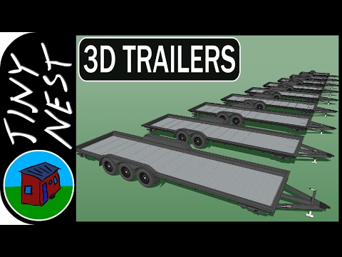 Tiny House Trailers in 3D (Iron Eagle)