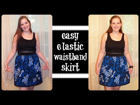 *EASY* High Waist Skirt with Elastic Waistband – DIY Sewing Tutorial - How To Sew