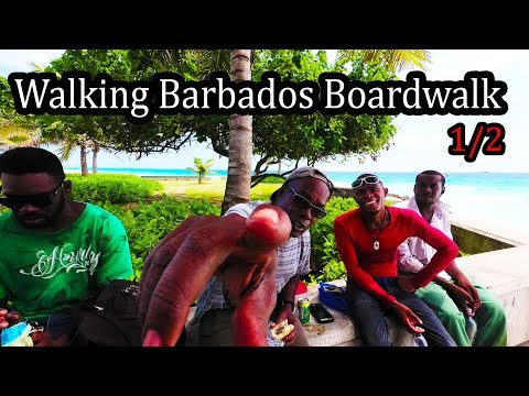 Barbados 2017 - Walking the Boardwalk (1/2) - 4K