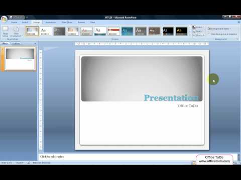 Powerpoint | How to hide background graphics for easier preparation of the presentation?