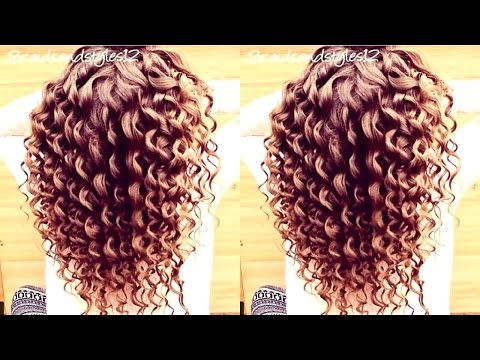 HOW TO DO SPIRAL CURLS  /  CURLING WAND HAIR TUTORIAL | Braidsandstyles12