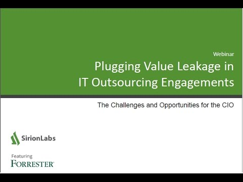 SirionLabs Webinar - Plugging Value Leakage in IT Outsourcing  - Recording - 05 Oct 2016