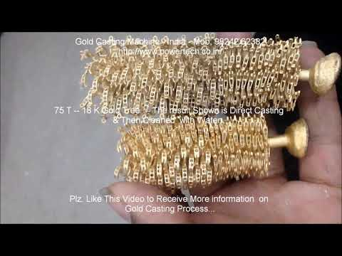 Gold Casting Machine, Gold Jewellery Vacuum Casting Machine equipment process, Gold making machine A