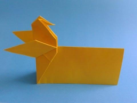 How to make a origami  card как сделать открытку оригами