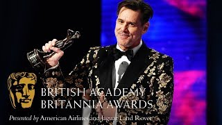 Jim Carrey acceptance speech at the Britannia Awards