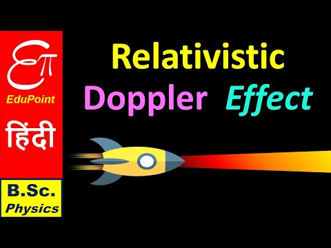 RELATIVISTIC DOPPLER EFFECT || Special Relativity in HINDI for B.Sc.