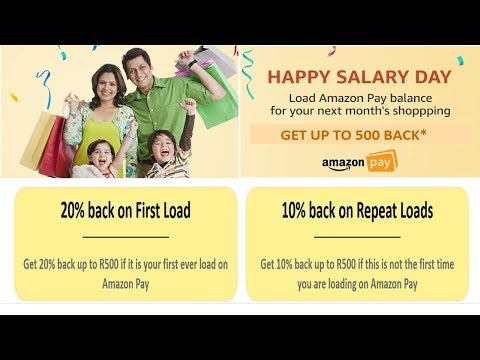 AMAZON PAY HAPPY SALARY DAY | Get 20% Cashback on Top-up Amazon Pay Balance for new users