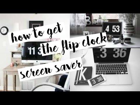how to get the flip clock screen saver