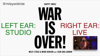 MILEY CYRUS AND SEAN LENNON- WAR IS OVER **DUAL AUDIO!!**! WEAR HEADPHONES!!!!