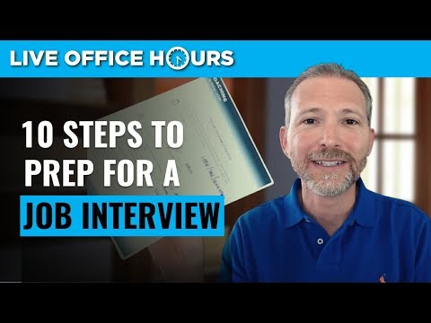 How to Prepare for a Job Interview: 10 Steps for Success: Live Office Hours: Andrew LaCivita