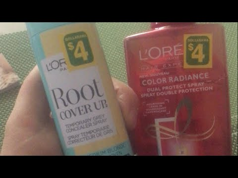 Dollarama $4 L'Oreal Root Cover Up & Nourishing Leave-in Dual Protect Spray 🇨🇦