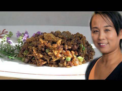 Chinese Beef & Egg Fried Rice (Chinese Style Cooking Recipe)