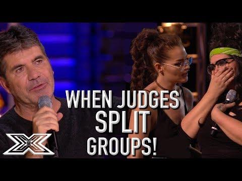 When Judges SPLIT GROUPS On X Factor UK! | X Factor Global