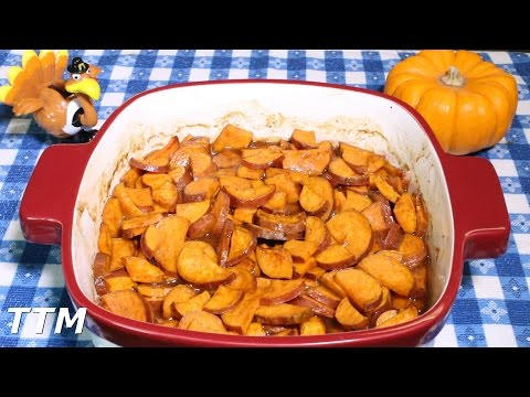 Easy Baked Sweet Potato Casserole Recipe~Candied Yams with Marshmallows