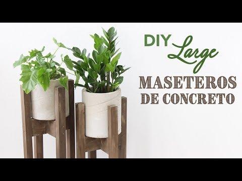 DIY Large Concrete Planters | Maceteros de Concreto
