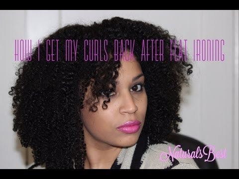 How I Get My Natural Curls back after Flat Ironing