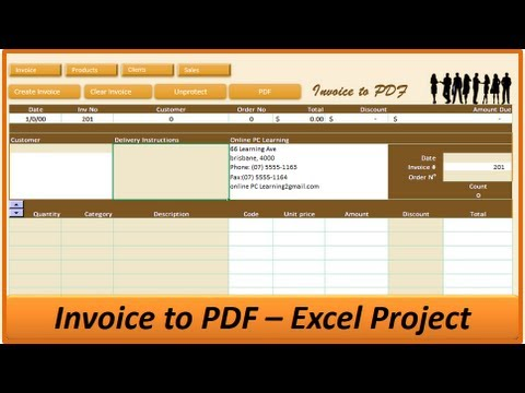 Excel Invoice to PDF - Excel Invoice Creator - Excel VBA Project
