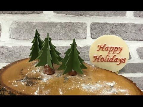 Easy to make 3D gumpaste  Christmas trees