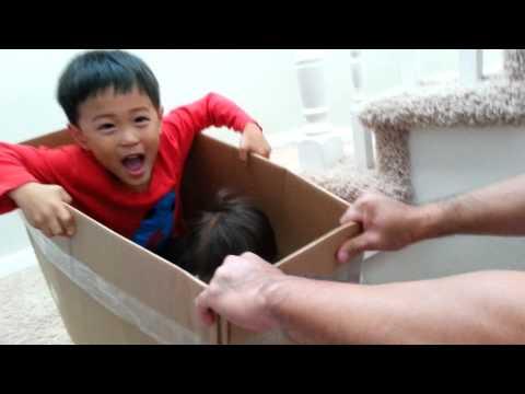 Cardboard box roller coaster